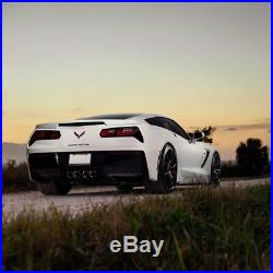 19 20 Xo Verona Black Concave Wheels Rims Fits Chevrolet C5 Corvette