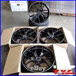 19 507 Style Wheels Matte Black Machined Fits Mercedes AMG C S CLA CLK E Class