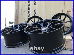 19 763M Haste Alloy Wheels 5x120 WIDER REAR SATIN Black fits BMW 3 Series