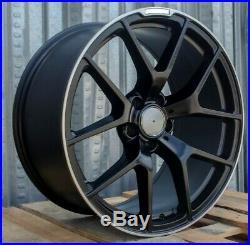 19 AMG style Matte Black Wheels Fits Mercedes C300 C400 C43 E350 E550 CLS550