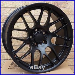 19 Alloy Wheels CSL Style BMW E46 M3 Matt Black Staggered Concave Rears