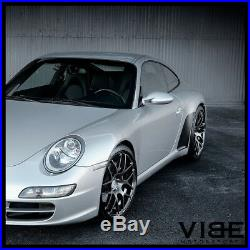 19 Avant Garde Ruger Mesh Forged Black Wheels Rims Fits Porsche 997 911 Turbo