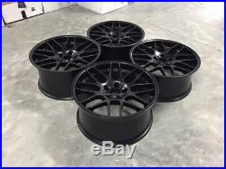 19 CSL DEEP CONCAVE Style Alloy Wheels Satin Matt Black BMW CONCAVE E46 M3 Z4M