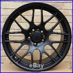 19 CSL Style Concaved Matt Black Alloy Wheels Bmw 3 Series E90 E91 E92 E93 F30