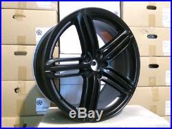 19 MATTE BLACK RS6 PEELER WHEELS RIMS FITS AUDI VW RABBIT TIGUAN Q5 5x112