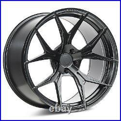 19 Rohana Rfx5 Matte Black Concave Wheels For Porsche 997 911 C2s C4 Targa Gts
