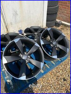 19 TTRS Rotor Arm Concave Style Alloy Wheels Only Matt Black/Pol for Audi A5