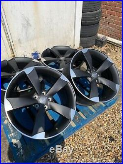 19 TTRS Rotor Arm Style Alloy Wheels Only Matt Black/Polished to fit Audi A3