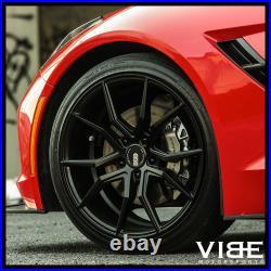 19 XO VERONA BLACK CONCAVE WHEELS RIMS FITS BMW F10 528i 535i