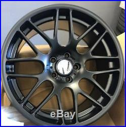 19matt black alloy wheels fits bmw 3/5 series vw t5/t6 csl staggered with tyres