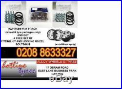 19new matt black alloy wheels audi/passat/skoda/sharan/seat/a4/a6/a5 with tyres