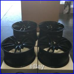 19x10/19x11 GT Style fit Ford Mustang 5x114.3 35/50 Matte Black Wheels Set(4)