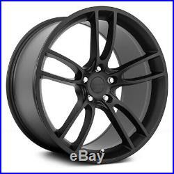 19x11/19x11.5 MRR M600 fit Mustang 5x114.3 24/55 Matte Black Wheels Set(4)