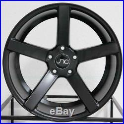 19x8.5/19x9.5 Matte Black Wheels JNC 026 JNC026 5x114.3 40/40 (Set of 4)
