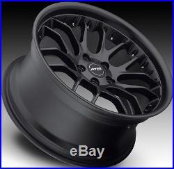 19x8.5/9.5 Mrr Gt7 Staggered Matte Black Wheels 5x120 Rim Bmw 330 2006-2012