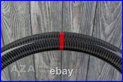 2005-2009 Vw Mk5 Golf Jetta Gli Gti Carbon Fiber Steering Wheel Flat Bottom