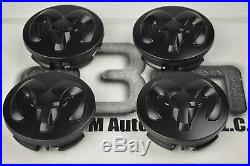 2005-2015 Dodge Ram 1500 20 inch Wheel center Hub Cap Set of 4 Black new OEM
