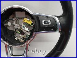 2014 Vw Golf Gtd Mk7 Flat Bottom Black Leather Multifunction Steering Wheel Oem