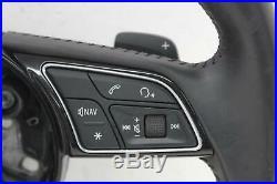 2016 AUDI A4 B9 Multifunctional Black Flat Bottom Steering Wheel