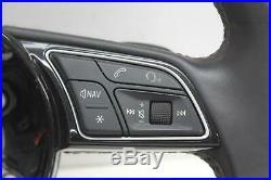 2017 AUDI A5 S5 Multifunctional Black Leather S Line Flat Bottom Steering Wheel