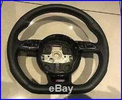 2017 Audi A6 Ultra Black Édition C7 A7 S Line Flat Bottom Steering Wheel