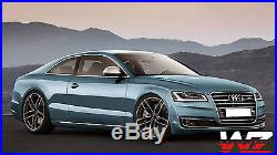 20 1196 Style Wheels Satin Matte Black WithTires Fits Audi A4 A5 A6 TT VW Rims