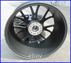 20 FACTORY STYLE DODGE CHARGER SRT HELLCAT 20x10 MATTE BLACK TWO WHEELS RIMS