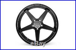 20 Ferrada Fr3 Matte Black Concave Wheels Rims Fits G37 Coupe 20x9 20x10.5
