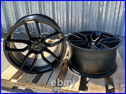 20 Inch Matte Black Wheels 20x9.5 / 20x10.5 Fit Dodge Charger Challenger Set 4