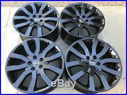 20 Matte Black Oem Original Range Rover Sport Supercharged Stormer Wheels