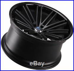 20 Rohana Rc20 Staggered Wheels 5x114.3 Matte Black Fits Infiniti G35 Coupe