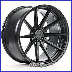 20 Rohana Rf1 Matte Black Concave Wheels For Audi C7 A6 S6 2011 Present