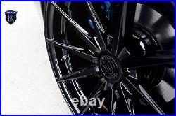 20 Rohana Rf1 Matte Black Concave Wheels For Bmw F10 M5 2012 2015
