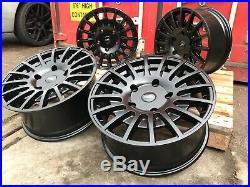 20 Transit Rs Style Alloy Wheel Matt Black Fitted Tyres Ford Transit Custom Van