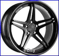 20 Vertini Monaco Concave Alloy Wheels Bmw 3 E90, E91, E92, E93, Matte Black