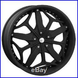 20 X 8.5 Ragno Matte Black wheels Rims Fit 5 X 114.3 Accord Mustang Veloster
