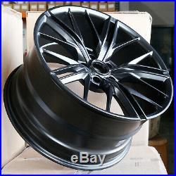20x10/20x11 Matte Black Wheels ZL1 Style fit Camaro 5x120 23/43 (Set of 4)