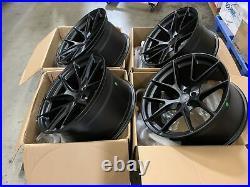 20x10.5 +35 Aodhan LS007 5X112 Matt Black Wheels Rims (Used Set)