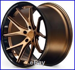 20x10.5 Ferrada FR2 5x112 ET20 Matte Bronze Wheels (Set of 4)