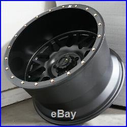 20x12 Flat Black Wheels COW KT02 8x165.1/8x6.5 -49 (Set of 4)