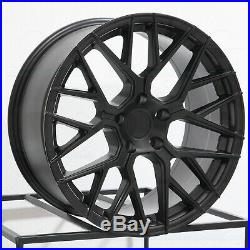 20x9/20x10.5 Matte Black Wheels Aodhan LS009 LS9 5x114.3 30/35 (Set of 4)