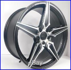 20x9 5x114.3 Custom Wheels Rims fits Toyota Set of 4 Matte Black NEW