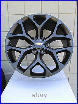 22 Chevrolet Silverado Suv Factory Style Matte Black New Set Of 4 Wheels 5668