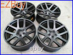 22 Dodge Ram 1500 SRT10 Style Set of Four New Matte Black Wheels Rims 2223