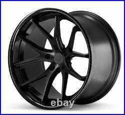 22 Ferrada Fr2 Matte Black Concave Wheels Rims Fits Dodge Charger Rt Se Srt8