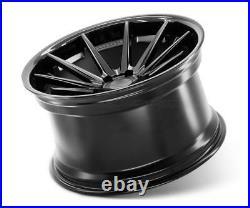 22 Ferrada Fr4 Matte Black Concave Wheels Rims Fits Dodge Charger Rt Se Srt8