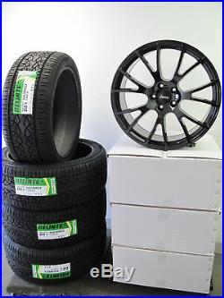 22 Jeep Grand Cherokee Durango 4 Wheels Rims Hellcat Style Matte Black Tires J