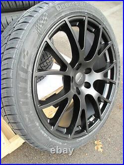 22 Jeep Grand Cherokee Hellcat Style New Matte Black Wheels Tires Set Of Four