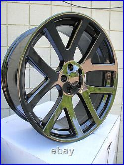 22 NEW FACTORY STYLE DODGE CHARGER SRT GLOSS BLACK WHEELS RIMS 22x9 2223