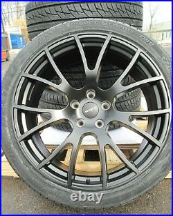 22 New Jeep Grand Cherokee Srt8 Hellcat Style Matte Black Wheels Tires Set Of 4